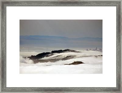 San Francisco Bay Bridge Framed Print by Juan Romagosa