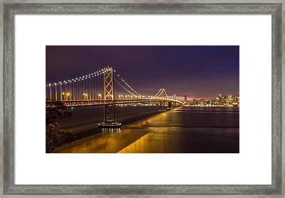 San Francisco Bay Bridge Framed Print by Pierre Leclerc Photography