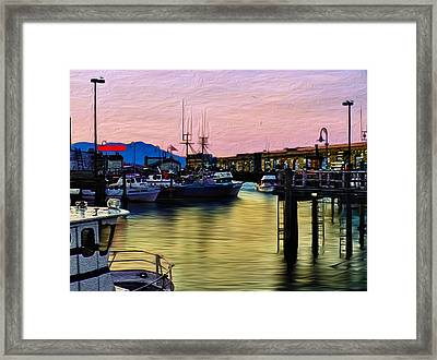 San Francisco Bay Framed Print by Camille Lopez
