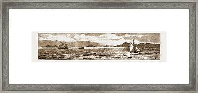 San Francisco Bay, From The Golden Gate, 1883 Framed Print by Litz Collection