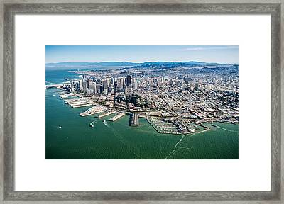 San Francisco Bay Piers Aloft Framed Print by Steve Gadomski