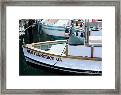 San Francisco Boat Framed Print by Jon Neidert