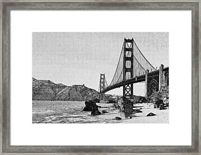 San Francisco Bridge 3 Framed Print by Yury Malkov