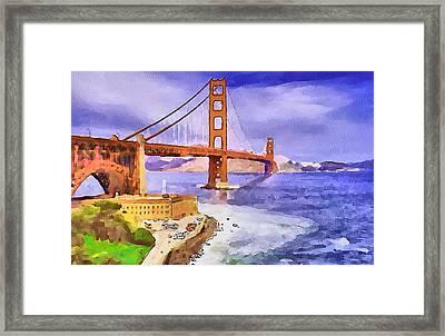 San Francisco Bridge Framed Print by Yury Malkov
