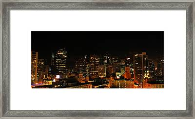 San Francisco By Night Framed Print by Cedric Darrigrand