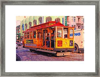 San Francisco Cable Car - Photo Artwork Framed Print