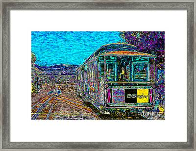 San Francisco Cablecar - 7d14097 Framed Print by Wingsdomain Art and Photography