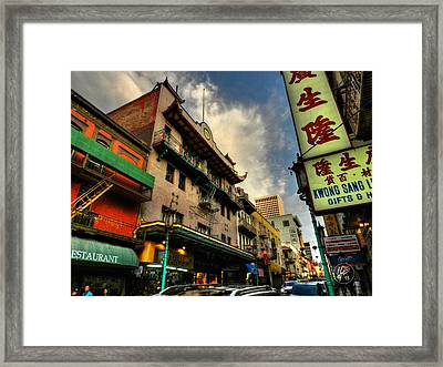 San Francisco - Chinatown 004 Framed Print by Lance Vaughn