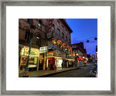 San Francisco - Chinatown 007 Framed Print by Lance Vaughn