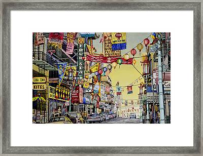 San Francisco Chinatown Framed Print
