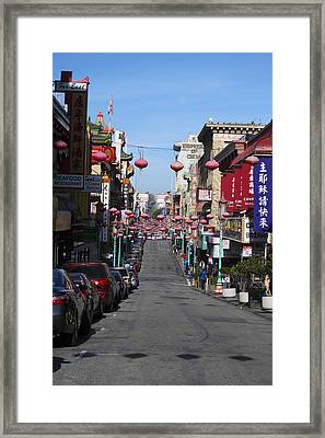 San Francisco Chinatown Framed Print by Christopher Winkler