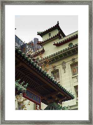 San Francisco Chinatown Dragon Gate Framed Print by SFPhotoStore