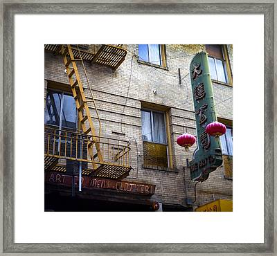 San Francisco Chinatown Golden Escape Framed Print by SFPhotoStore