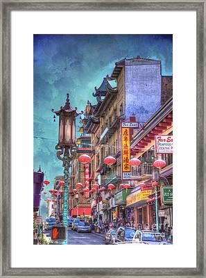 San Francisco Chinatown Framed Print by Juli Scalzi