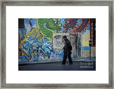 San Francisco Chinatown Street Art Framed Print by Juli Scalzi