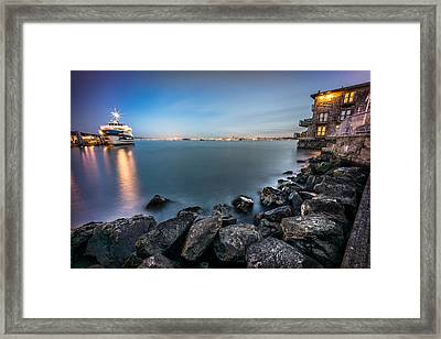 San Francisco Citiyscape From Sausalito United States Framed Print by Giuseppe Milo