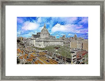 San Francisco City Hall 5d22507 Photoart Framed Print by Wingsdomain Art and Photography