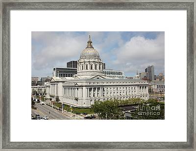 San Francisco City Hall 5d22510 Framed Print by Wingsdomain Art and Photography