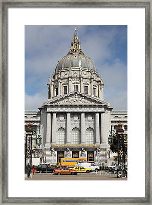 San Francisco City Hall 5d22572 Framed Print by Wingsdomain Art and Photography