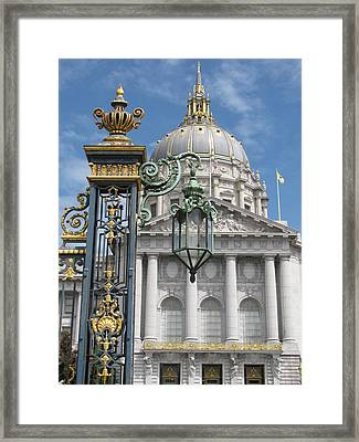 San Francisco City Hall Framed Print by Alfred Ng