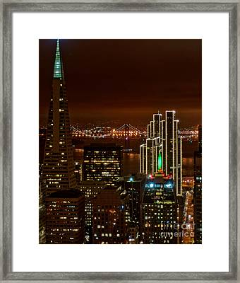San Francisco City Lights Framed Print by Loriannah Hespe