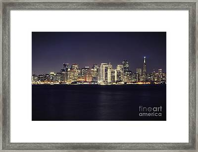 San Francisco Holiday Skyline II Framed Print by Jennifer Ramirez