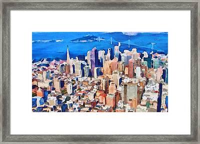 San Francisco City View 2 Framed Print by Yury Malkov