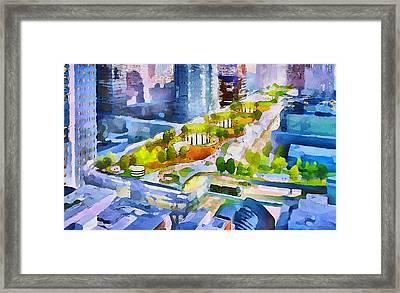San Francisco City View 3 Framed Print by Yury Malkov