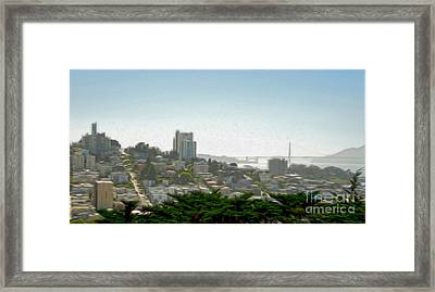 San Francisco - Cityscape - 04 Framed Print by Gregory Dyer