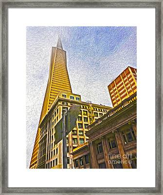 San Francisco - Cityscape - 05 Framed Print by Gregory Dyer