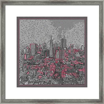 San Francisco Cityscape 2 Framed Print by Bekim Art