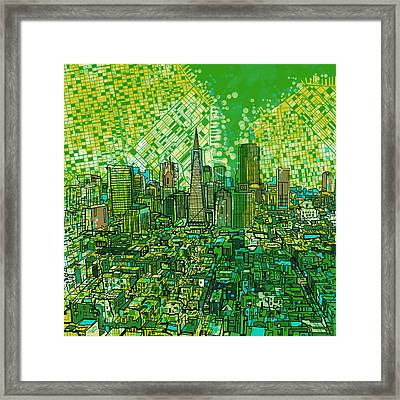 San Francisco Cityscape 3 Framed Print by Bekim Art