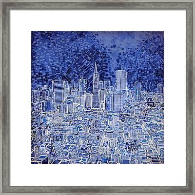 San Francisco Cityscape 4 Framed Print by Bekim Art