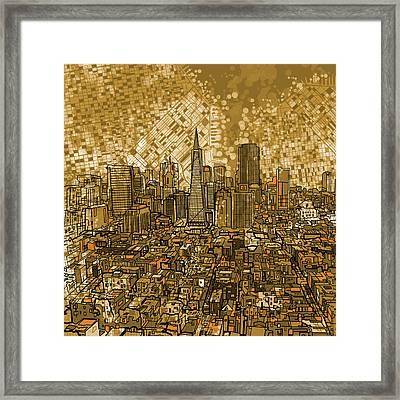 San Francisco Cityscape Framed Print by Bekim Art