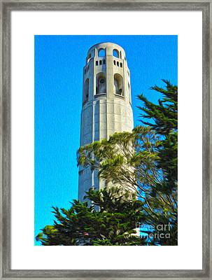 San Francisco - Coit Tower - 01 Framed Print by Gregory Dyer