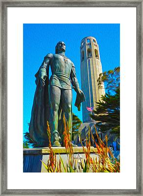 San Francisco - Coit Tower - 02 Framed Print by Gregory Dyer