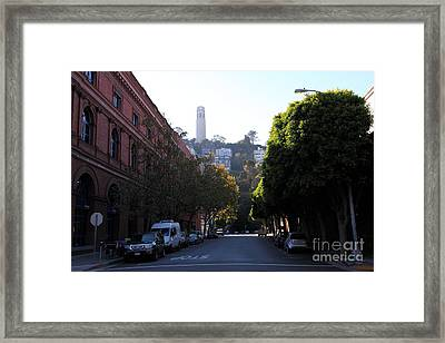 San Francisco Coit Tower 5d26177 Framed Print by Wingsdomain Art and Photography