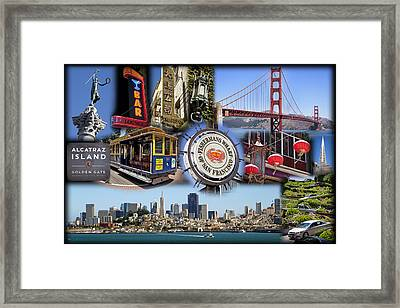 San Francisco Collage Framed Print by Kelley King