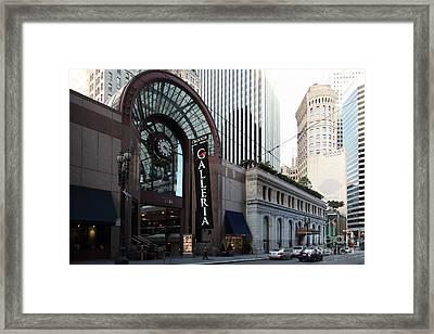 San Francisco Crocker Galleria - 5d20596 Framed Print