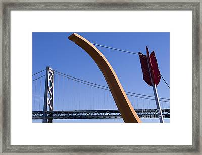 San Francisco Cupids Span Sculpture At Rincon Park On The Embarcadero Dsc1808 Framed Print by Wingsdomain Art and Photography