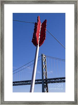 San Francisco Cupids Span Sculpture At Rincon Park On The Embarcadero Dsc1810 Framed Print by Wingsdomain Art and Photography
