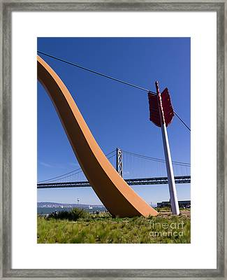 San Francisco Cupids Span Sculpture At Rincon Park On The Embarcadero Dsc1814 Framed Print by Wingsdomain Art and Photography