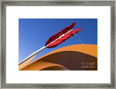 San Francisco Cupids Span Sculpture At Rincon Park On The Embarcadero Dsc1819 Framed Print by Wingsdomain Art and Photography