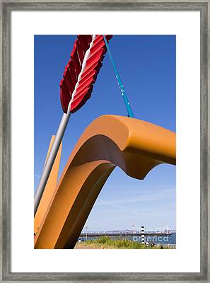 San Francisco Cupids Span Sculpture At Rincon Park On The Embarcadero Dsc1825 Framed Print by Wingsdomain Art and Photography