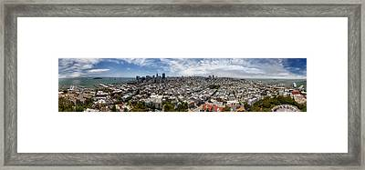 San Francisco Daytime Panoramic Framed Print by Adam Romanowicz