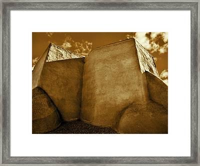 Framed Print featuring the photograph San Francisco De Asis Mission Church Taos II by John Hansen
