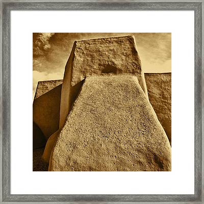 Framed Print featuring the photograph San Francisco De Asis Mission Church Taos by John Hansen