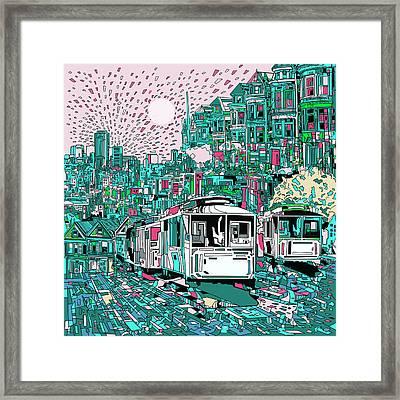 San Francisco Dream Framed Print by Bekim Art