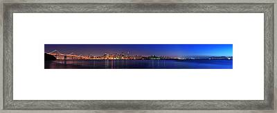 San Francisco Dusk Panorama Framed Print