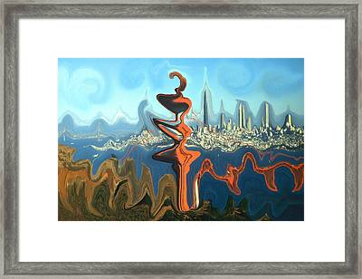 San Francisco Earthquake - Modern Art Framed Print by Art America Gallery Peter Potter